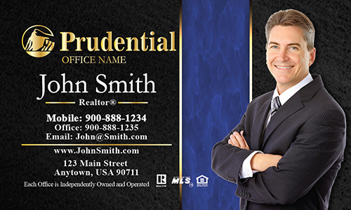 Prudential Business Card Modern Black and Blue - Design #105191