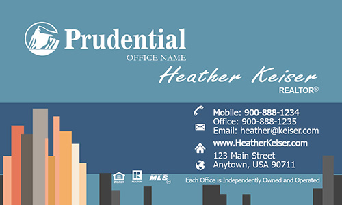Prudential Real Estate Business Card - Design #105201