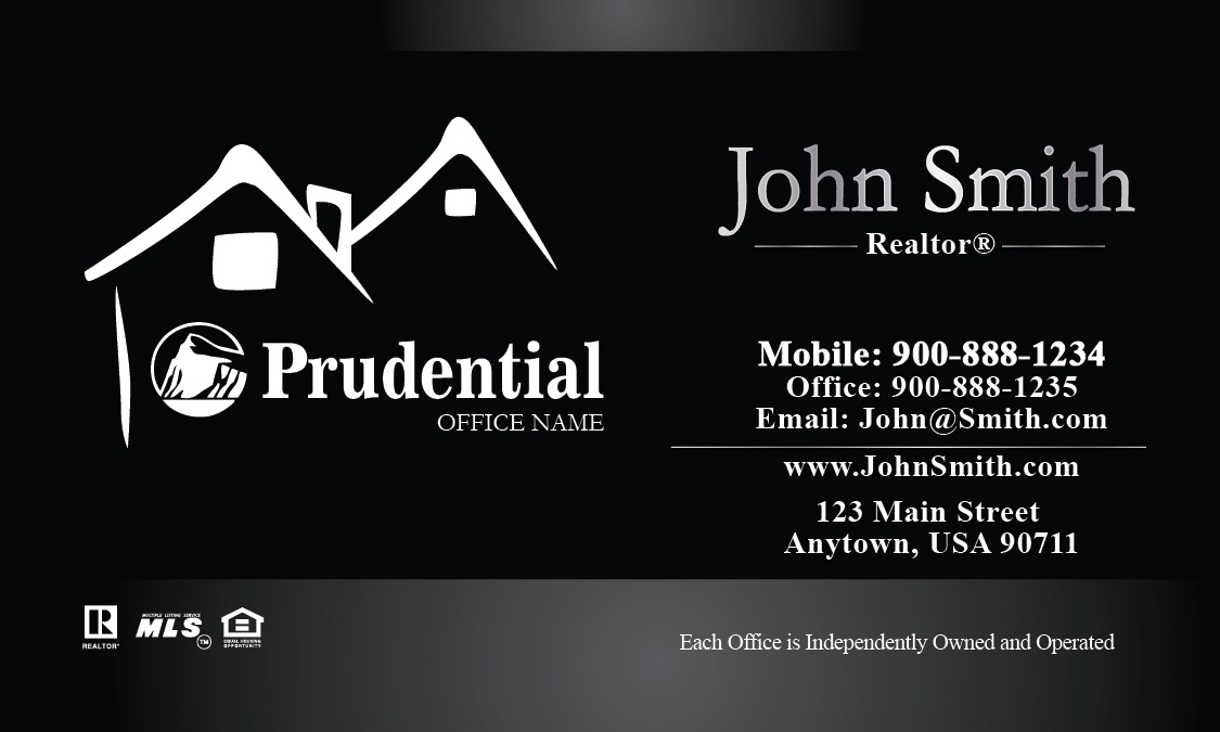 Prudential realtor business card design 105211 reheart Image collections