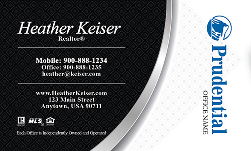 Prudential Business Card Black and White - Design #105221