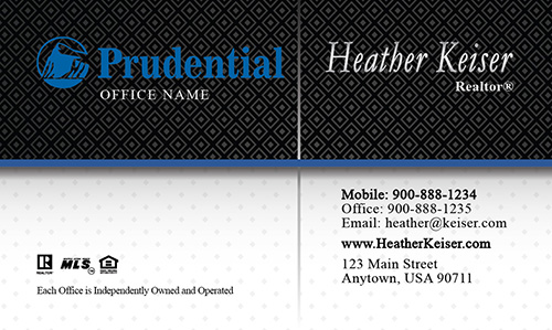 Classic Prudential Real Estate Business Card - Design #105231