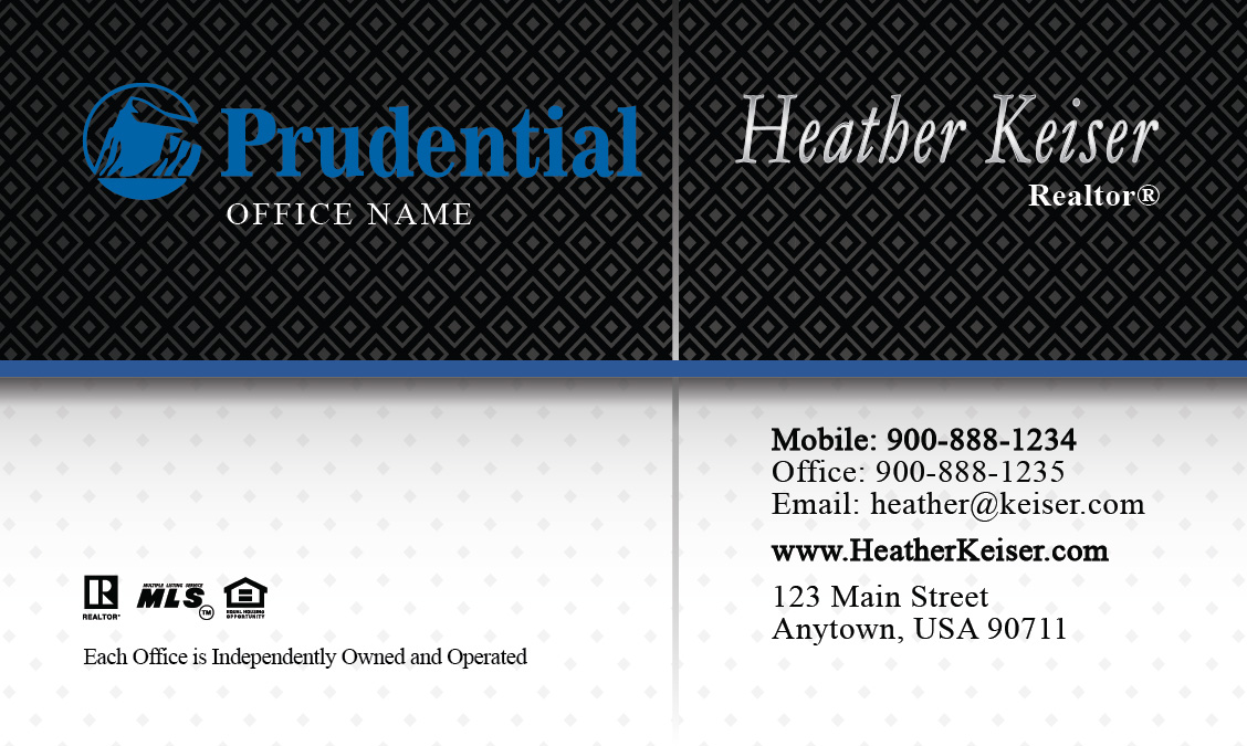 Classic prudential real estate business card design 105231 reheart Choice Image
