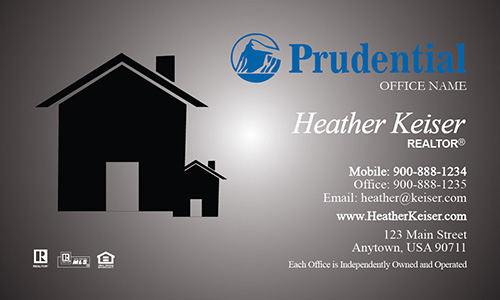 Prudential Realtor Business Card Modern Gray - Design #105241
