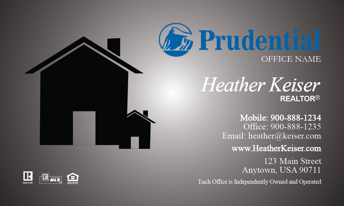 Prudential realtor business card modern gray design 105241 reheart Choice Image