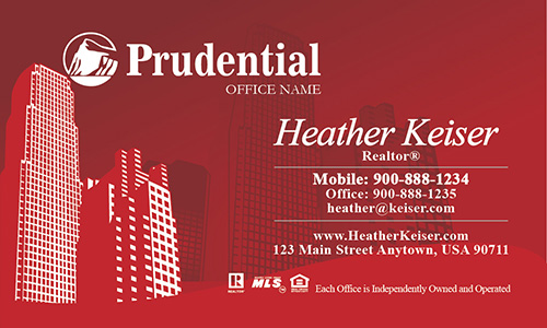 Prudential Business Card New York Style - Design #105251