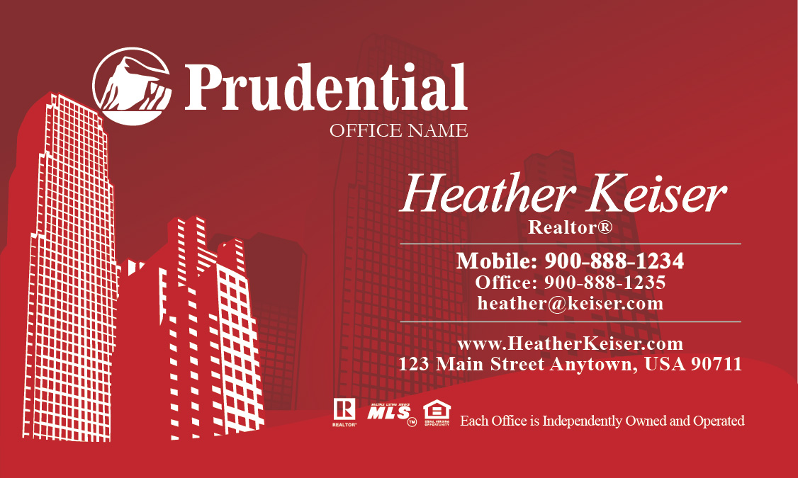 Prudential Business Card New York Style Design 105251