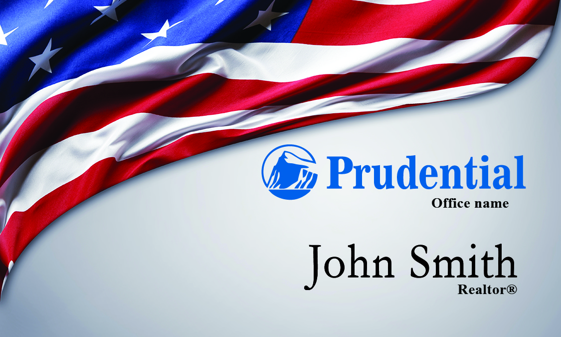 prudential business card american flag design 105261