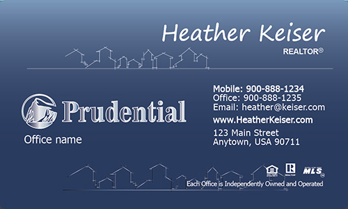 Prudential Business Card Gradient Abstract House - Design #105271