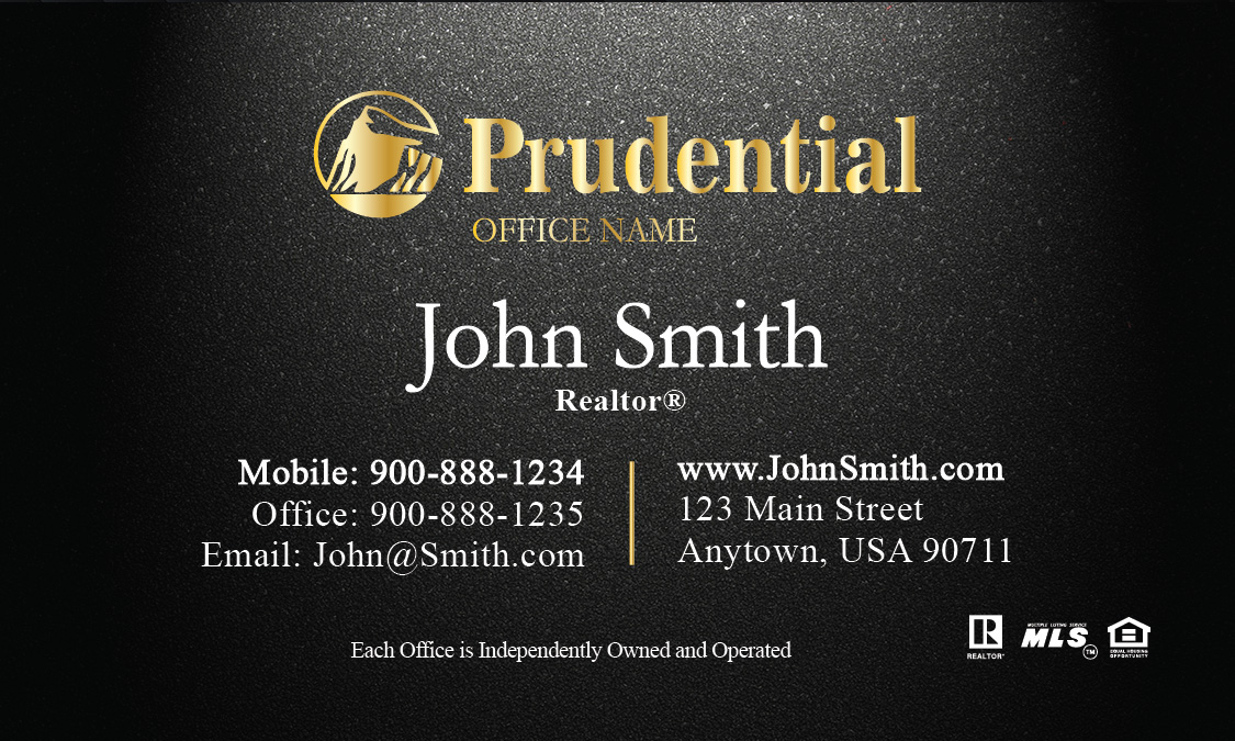 Prudential real estate agent business card reheart Choice Image