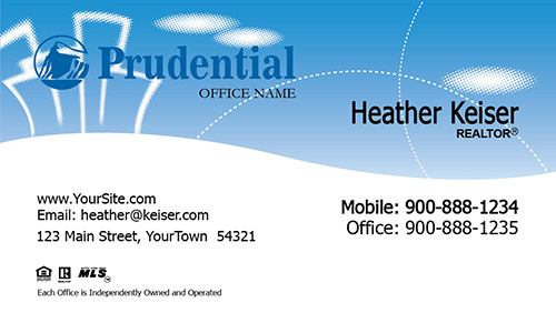 Prudential Business Card Cheerful Clouds - Design #105331