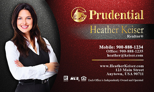 Prudential Business Card Photo Overlay Red - Design #105342
