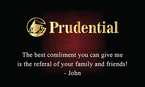 Prudential Realtor Business Card Dark Red - Design #105382