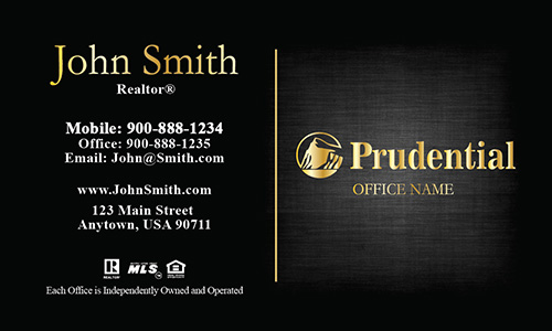 Prudential Realty Business Card - Design #105383