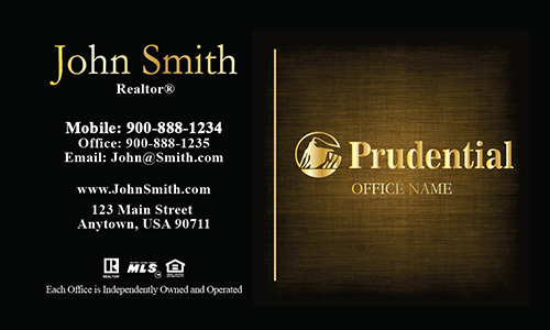 Prudential Realty Business Card Gold - Design #105384
