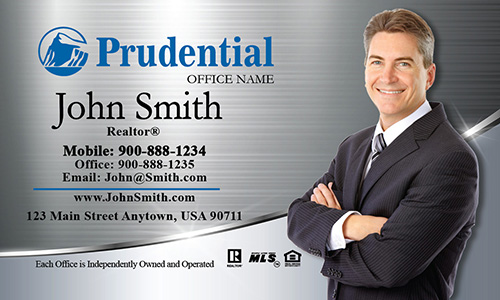 Prudential Business Card with Photo - Design #105391