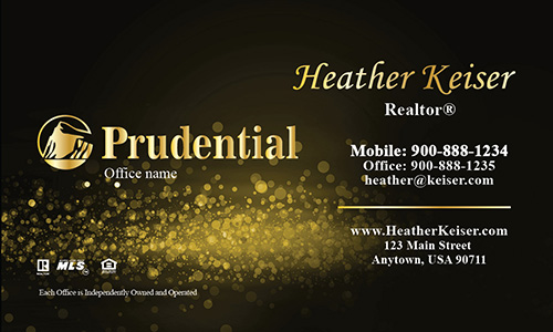 Prudential Business Card Gold Glamorous Glitter - Design #105433