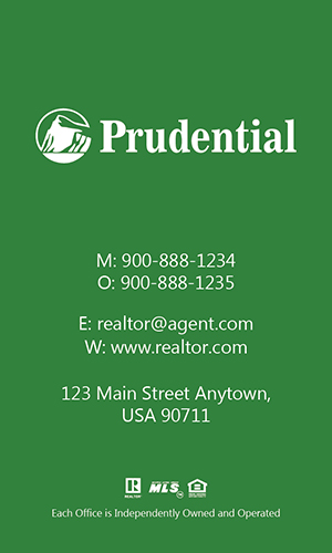 Prudential Realtor Vertical Business Card with Photo - Design #105474