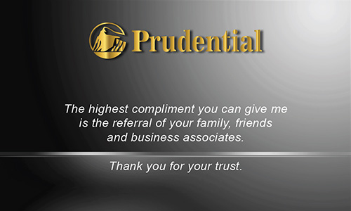 Black Prudential Business Card - Design #105482