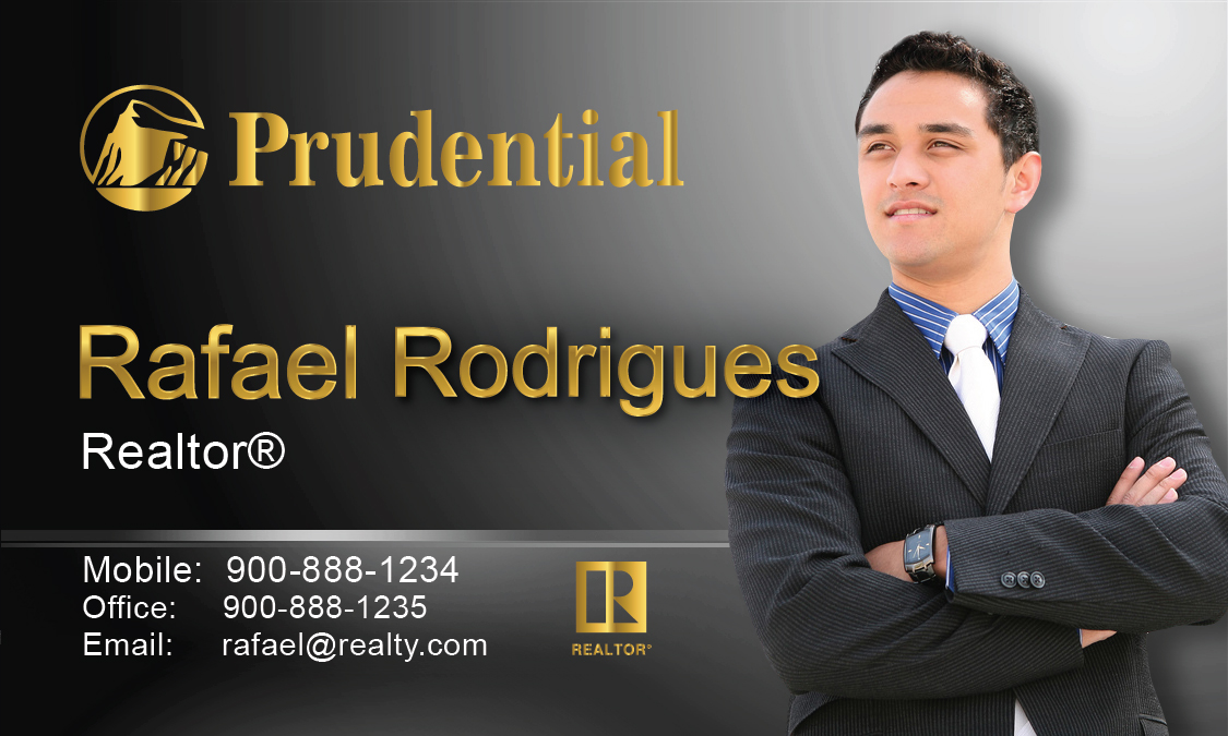 Black prudential business card design 105482 reheart Image collections