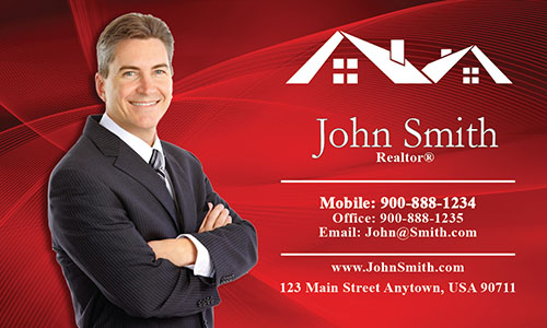 Custom Real Estate Agent Business Card - Design #106021