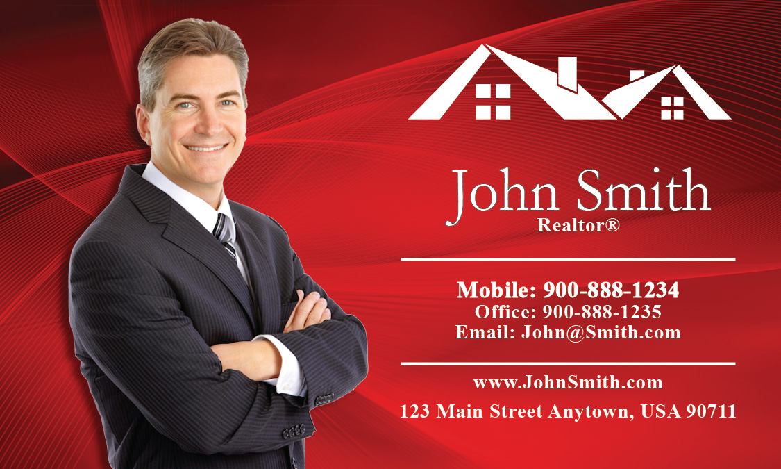 Custom real estate agent business card design 106021 colourmoves