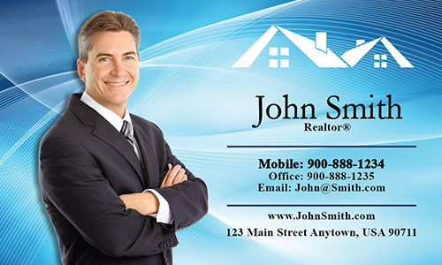 Custom Real Estate Agent Business Card - Design #106022
