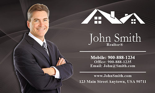 Custom Real Estate Agent Business Card - Design #106023