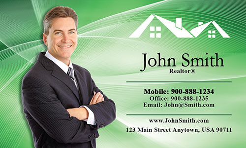 Custom Real Estate Agent Business Card - Design #106024