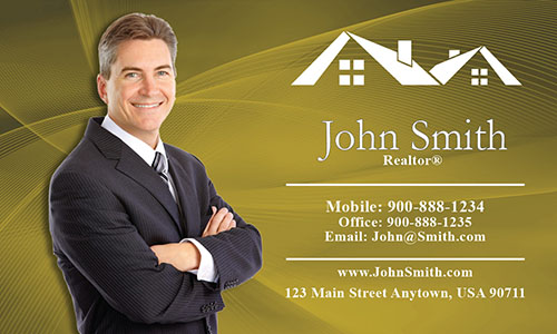 Custom Real Estate Agent Business Card - Design #106025
