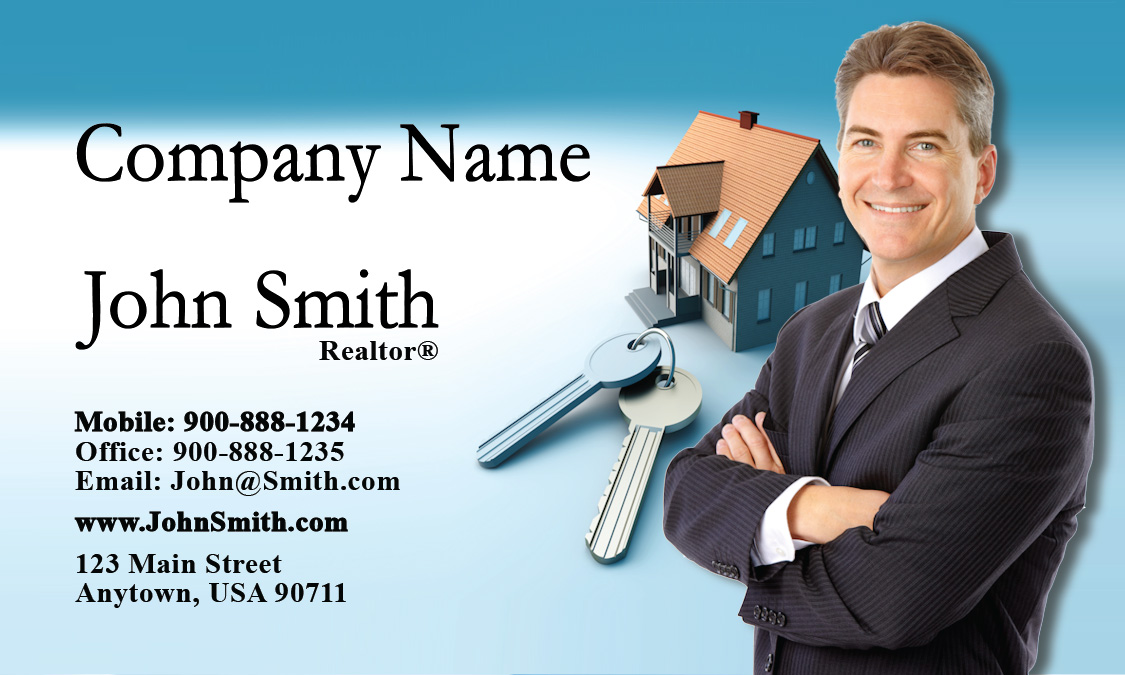 Real estate agent business card design 106031 colourmoves