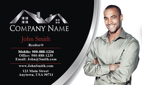 Back and White Realtor Business Card - Design #106041