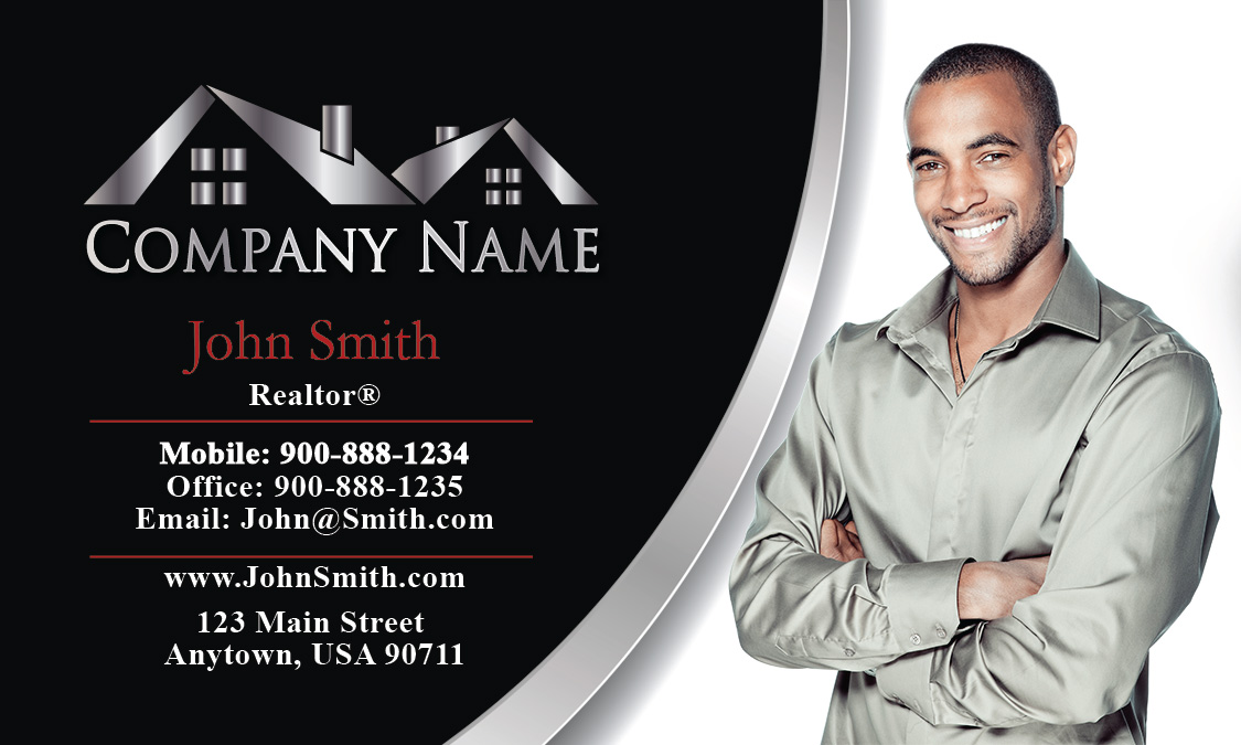 and White Realtor Business Card - Design #106041
