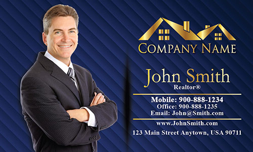 Broker Real Estate Business Card - Design #106062