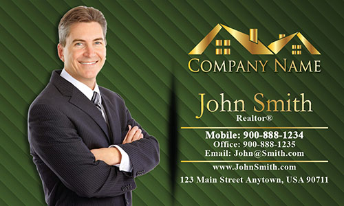 Broker Real Estate Business Card - Design #106064