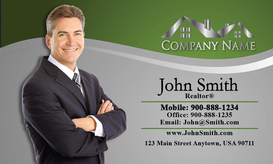Real estate agent business card design 106071 reheart Images