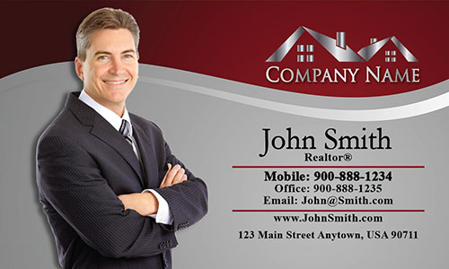 Real Estate Agent Business Card - Design #106073