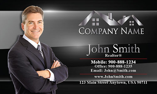 Real estate business cards free realtor templates black modern realtor business card design 106081 reheart Gallery