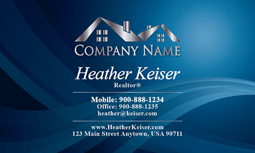 Blue Realtor Business Card - Design #106091