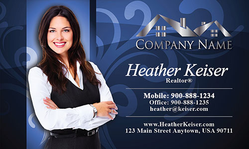 Realtor Silhouette Business Card - Design #106102