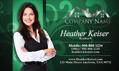 Realtor Silhouette Business Card - Design #106103