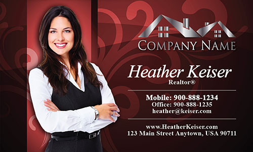 Realtor Silhouette Business Card - Design #106104