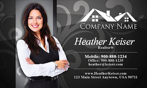Realtor Silhouette Business Card - Design #106105