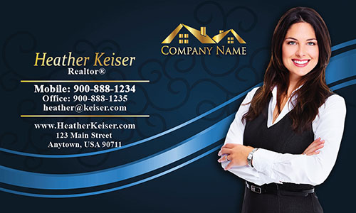 Gold Real Estate Logo Business Card - Design #106112