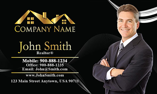 Trendy Realtor Photo Business Card - Design #106123