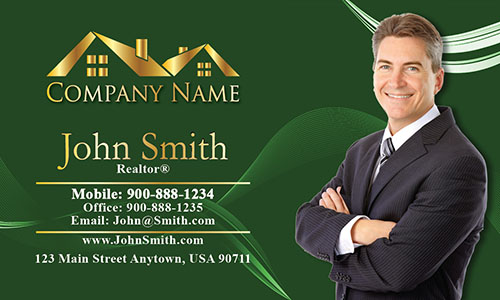 Trendy Realtor Photo Business Card - Design #106124
