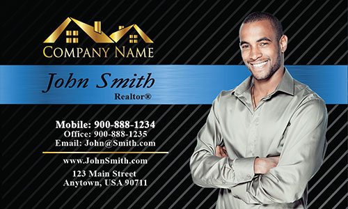 Modern Real Estate Business Card - Design #106152