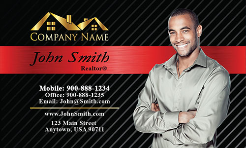 Modern Real Estate Business Card - Design #106153