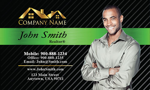 Modern Real Estate Business Card - Design #106155