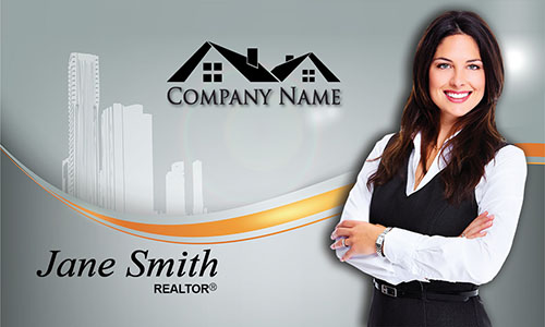 Custom Real Estate Business Card - Design #106161