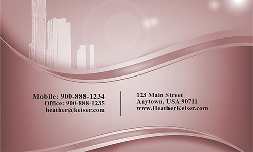 Down Town Real Estate Business Card - Design #106162